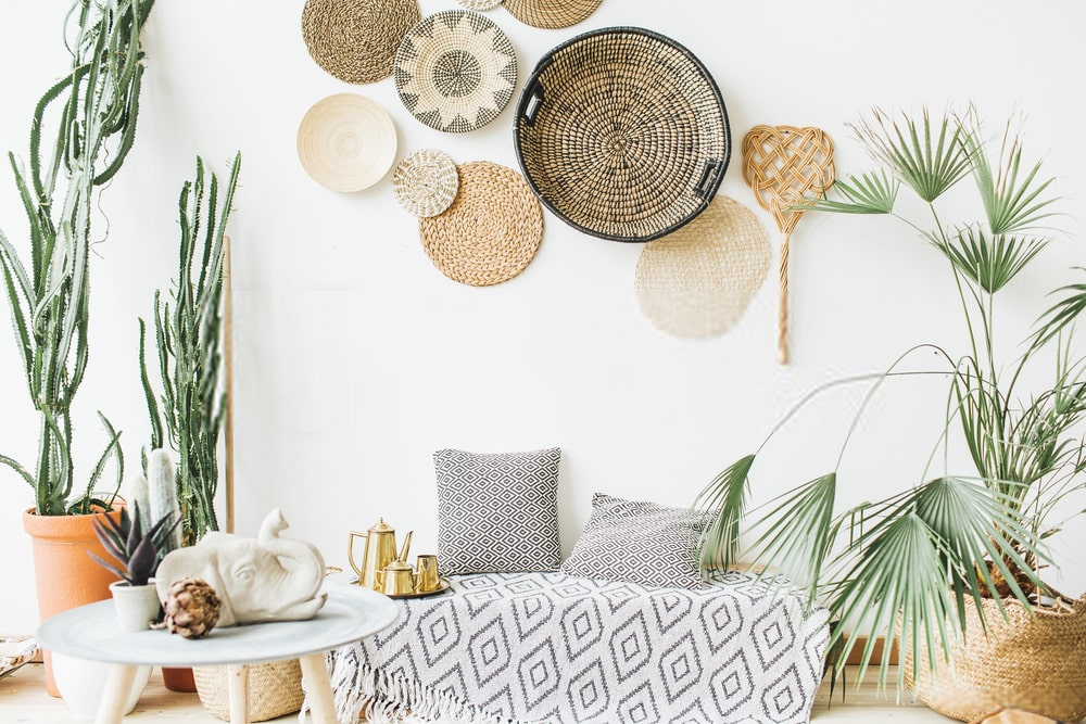 wicker wall decor